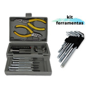 Kit Ferramentas Alicate Corte E Bico + Estojo + Chaves Tork