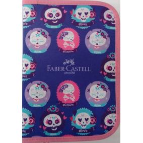 Estojo Escolar Nylon Fashion Faber Castell C 18 Peças