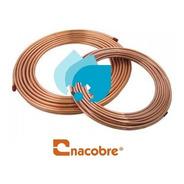 Rollo Tubo De Cobre Flexible 3/8 Nacobre 15.2m Refrigeracion