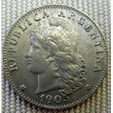 Argentina Moneda 20 Centavos 1905 Sin Circular++