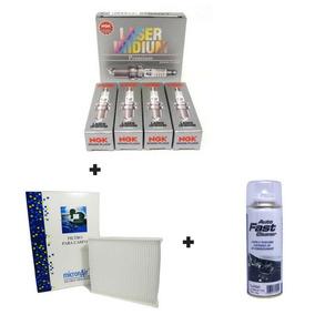 Kit Jogo De Velas Laser Ngk + Filtro Ac Origin+ Higienizador