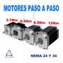 Motor Paso A Paso Nema24 Alto Torque 3.1nm 31.6kg Cnc Router