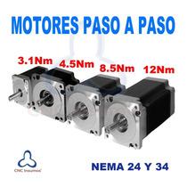 Motor Paso A Paso Nema24 Alto Torque 3.1 Nm Para Cnc Router