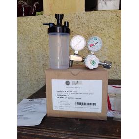 Regulador De Cilindro De Oxigeno Con Vaso Mascara Y Manguera