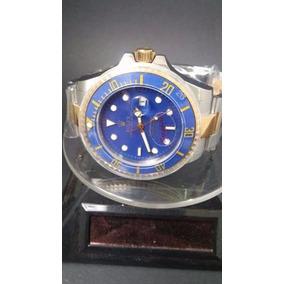 Relogio Submariner 16233 Azul Misto Dourado 12x Sem Juros