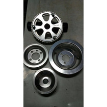 Kit Polia Vw Ap 1.6/1.8/2.0 - Aluminio 4 Peças