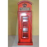 Cabine Telefônica Inglesa Miniatura Porta Cd
