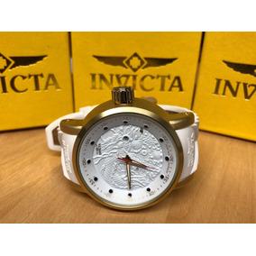 Relógio Dragon Yakusa Branco Raro C/c 100% A Prova Dagua