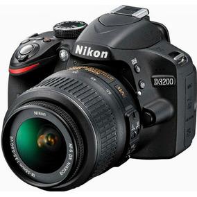 Câmera Profissional Nikon D3200 + Bolsa De Trans - Semi Nova