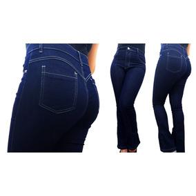 Calca Jeans Feminina Flare Boca De Sino Cintura Alta Linda