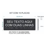 Kit 15 Placas Visualização Braille E Relevo Com 2 Linhas