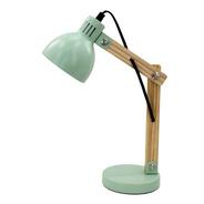 Lámpara Chica De Mesa Escritorio Velador E14 Nórdico Madera