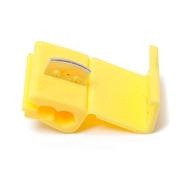 100pçs Conector Derivação Emenda Cabos Fios Amarelo 4 A 6mm