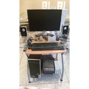 Computadora Completa Con Mesa De Vidrio