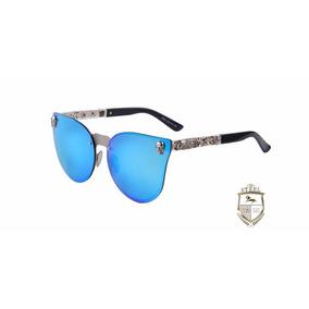 Lentes Gafas De Sol Azules Calaveras Skulls Steel Craneos