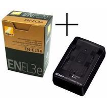 Bateria Nikon En-el3e Original + Carregador Mh-18a D90 D300