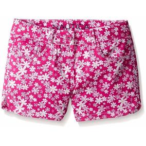 Short Florido Pink Infantil Nautica Tam 6/8 Anos