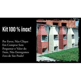 Churrasqueira Pré Moldada 65cm Com Kit Inox!