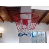 Aro De Basket Con Malla Y Balón.