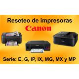 Reseteo De Impresoras Canon Y Epson Cajamarca