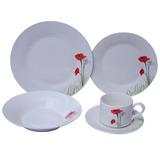 Jogo De Jantar 20 Peças Porcelana Innova - Floral Poppy 25,5