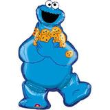 Sesame Street Cookie Monster Mylar Jumbo Fiesta Del Globo S