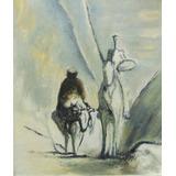 Pintura Impressionista De Dom Quixote E Sancho Pança Cavalga