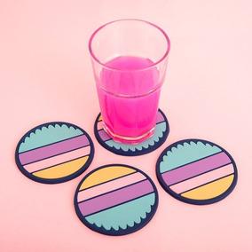 Portavasos ·rayas Magenta· Color Color Vanessa Boulton