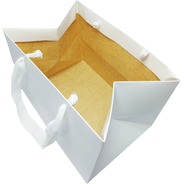 Bolsas De Cartulina 25x18x18cm X 50u Sin Impresión