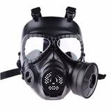 Máscara De Proteção Airsoft Modelo M04 Anti Gás Preto