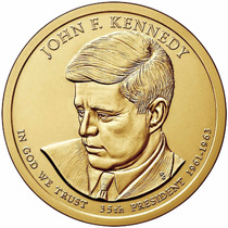 1 Dolar Americano - John F. Kennedy - Letra D- Com Riscos