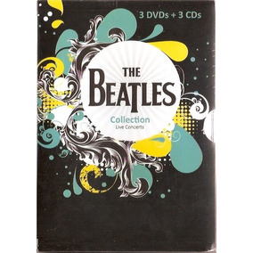 Box The Beatles Collection Live Concerts - C/ 3 Dvds + 3 Cds