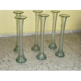 jarrones de vidrio soplado cm alto