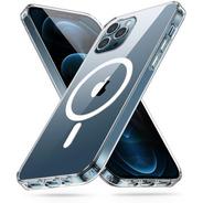 Carcasa Clear Magsafe + Vidrio iPhone 12 Pro Max Transparent