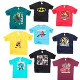 Kit 10 Camisa Heróis Personagem Infantil Atacado Barato
