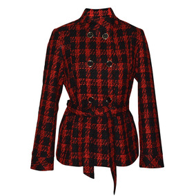 Abrigo Manga Larga Cruzado Casual Dama Mujer Rojo 0332 Zoara