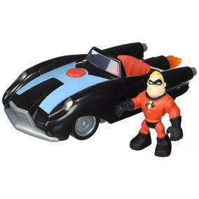 Minifigura Com Veículo Os Incríveis 2 - Sr Incrivel E Carro