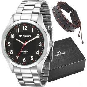 59af133542c Lindo Relógio Com Pulseira Vermelha Seculus - Relógio Seculus ...