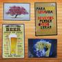 Placas Retro Vintage Mdf Madeira Cerveja São Paulo Frases