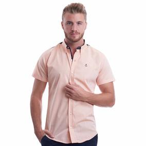 Camisa Manga Corta La C Hombros Marino
