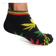 Meia Unissex Cannabis Soquete Maconha Ganja Reggae