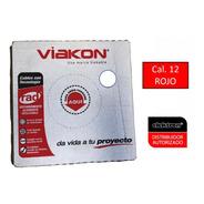 Caja 100 Mts Cable Eléctrico Viakon Rojo Cal 12 Cobre 100%