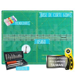 Base De Corte Patchwork Estilete Regua 60 Cm Cortador 45mm