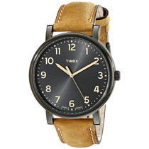 Timex T2n677ab Originals Reloj Negro Con Brazalete Cuero Ca