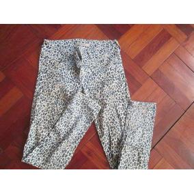 Pantalon Jean Animal Print Mujer Marca Kansas (talla 32/34)