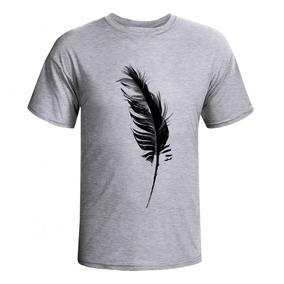 Camiseta Camisa Design Pena Preta Básica
