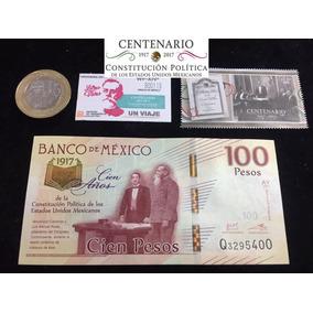 Centenario Constitución Billete Moneda Timbre Boleto Y Envio