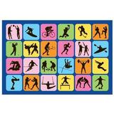 Fun Rugs Ft-126 3958 Sports Symbol Alfombra Para Niños, 39 P