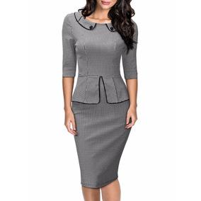 Vestido Tip Lapiz Oficina Formal Casual Estilo Retro Clasico
