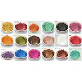 15-color Matte Mineral Makeup Pigmentos